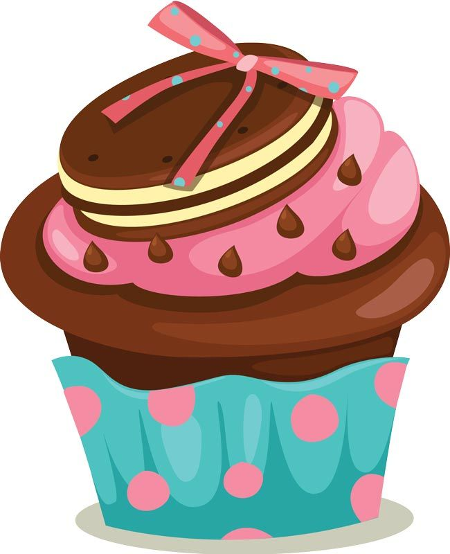 Delicious cupcakes with sprinkles vector - PNG HD Cupcake