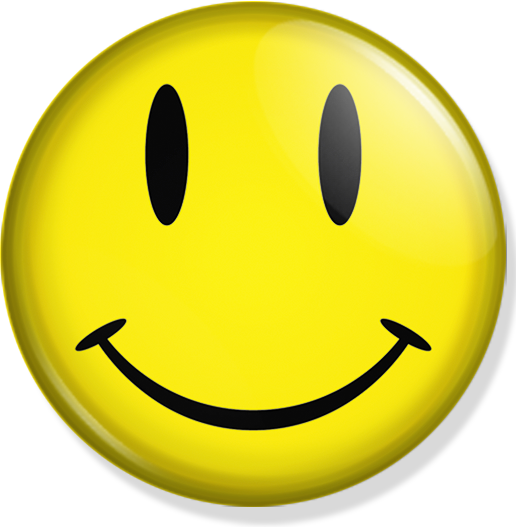 Nice (Happy Face)   pinbackattack! - PNG HD Emotions Faces