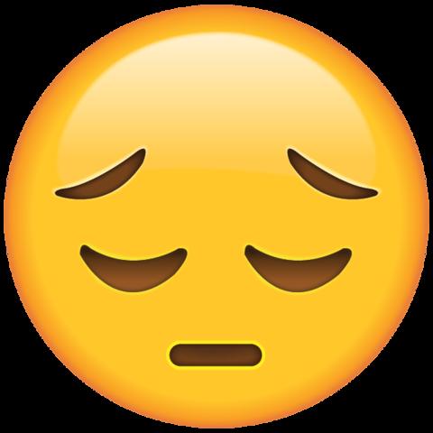 Sad Face Emoji - PNG HD Emotions Faces