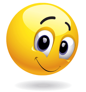 Shy smiley - PNG HD Emotions Faces