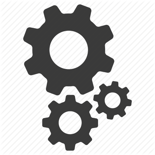 cogs, configuration, configure, gears, options, setting, settings icon - PNG HD Gears Cogs