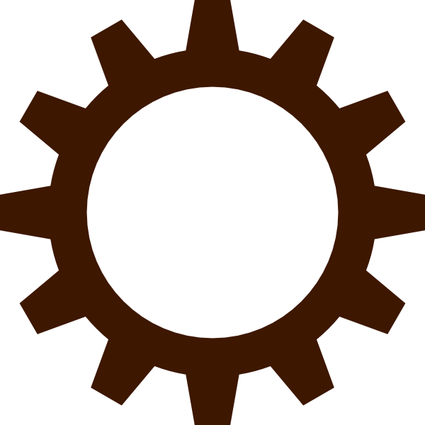 Gears clipart brown #4 - PNG HD Gears Cogs