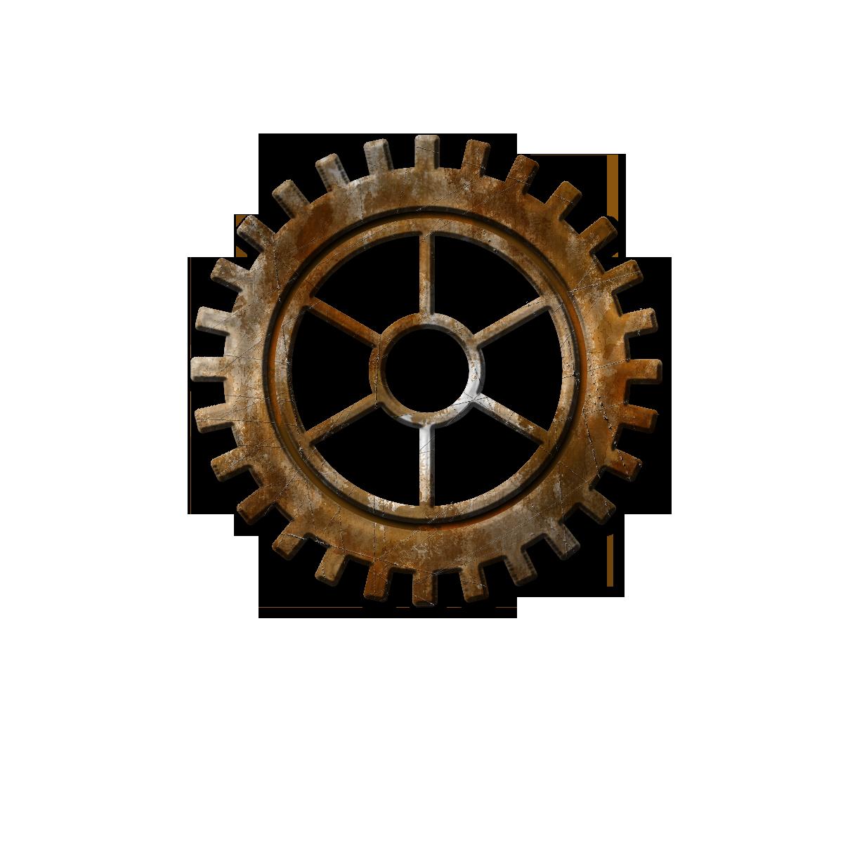 RustySilverGear.png - PNG HD Gears Cogs