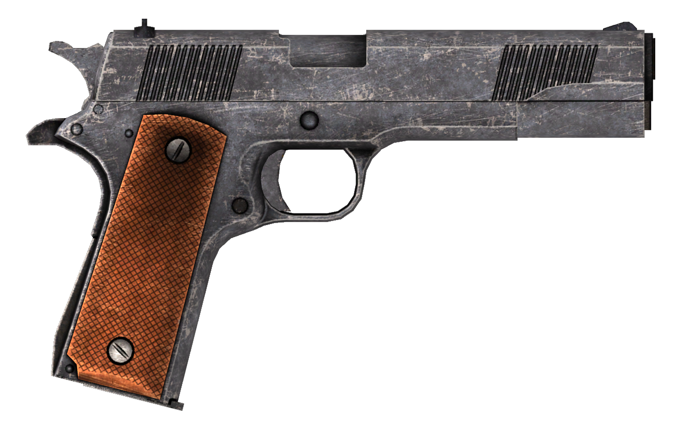 .45 Auto pistol with the HD slide modification.png - PNG HD Gun