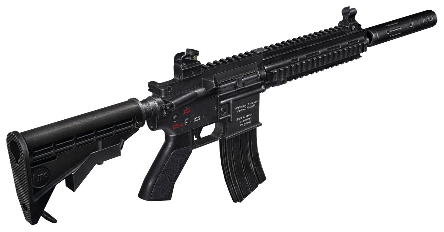 Hk416 worldmdl hd.png - PNG HD Gun