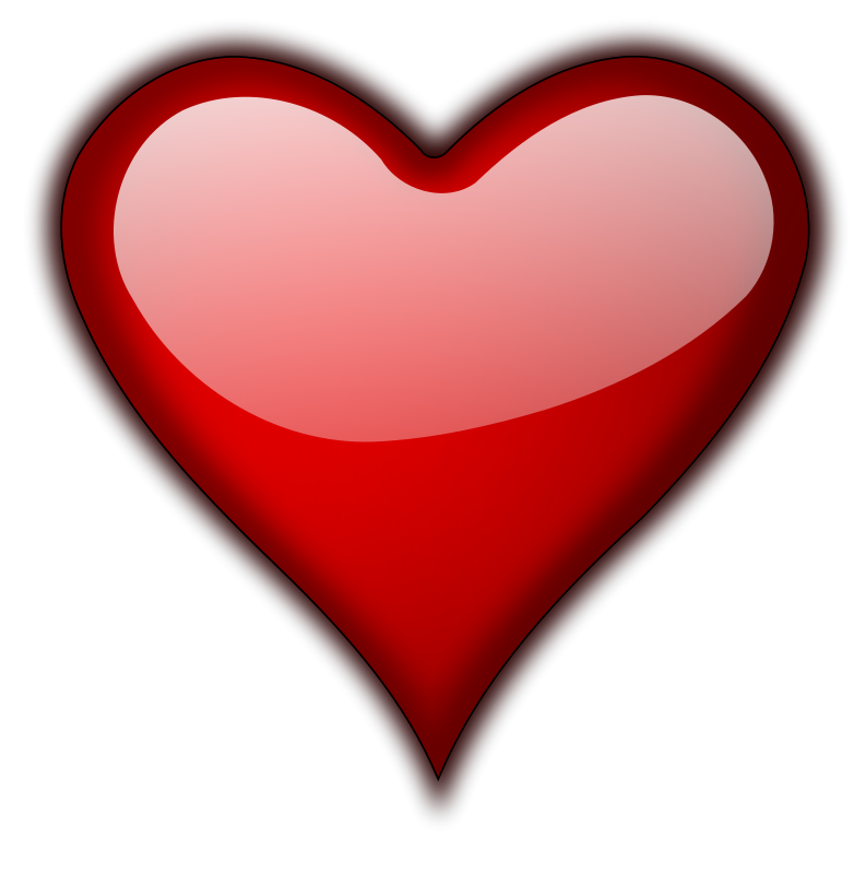 3D Red Heart PNG HD - PNG HD Heart