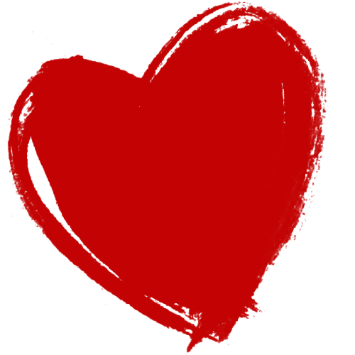 Dark Red Heart PNG HD - PNG HD Heart