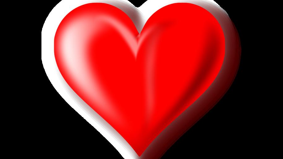 Red Heart 3 D Wallpaper Hd - PNG HD Heart