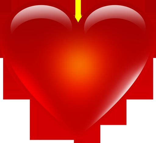 Red Heart Emoji Png Hd - PNG HD Heart
