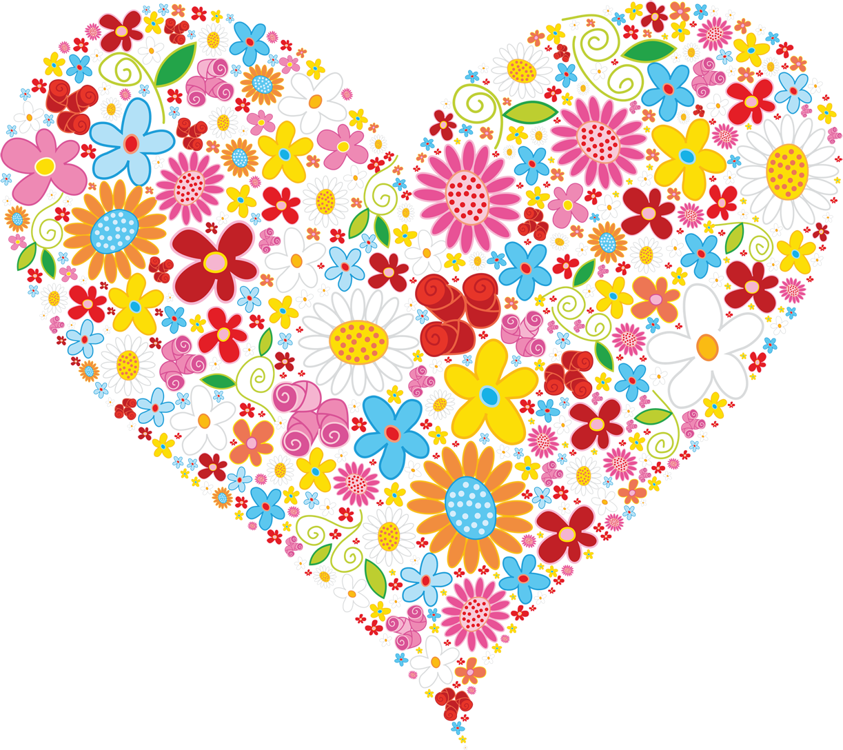 Flower heart clip art - PNG HD Hearts And Flowers