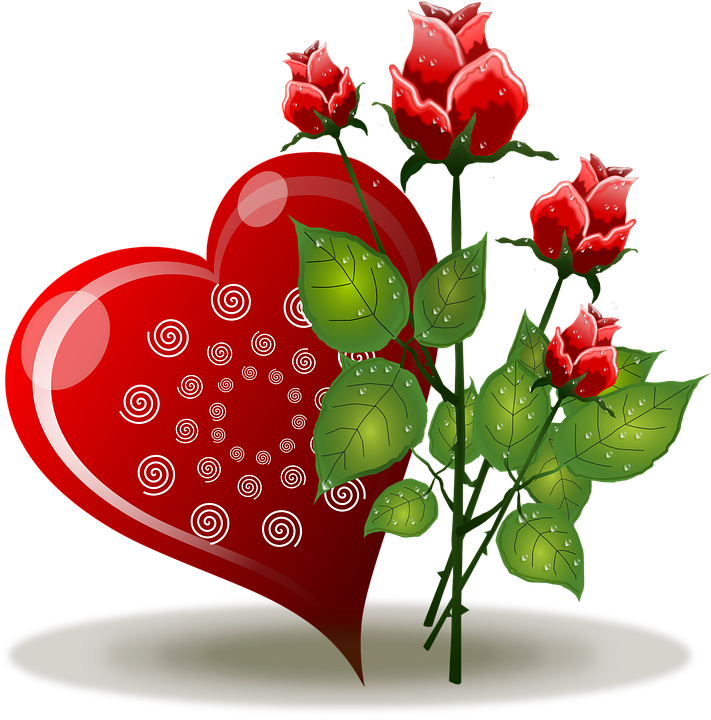 Flowers, Heart, Hearth, Hearts, Nature, Romance, Roses - PNG HD Hearts And Flowers