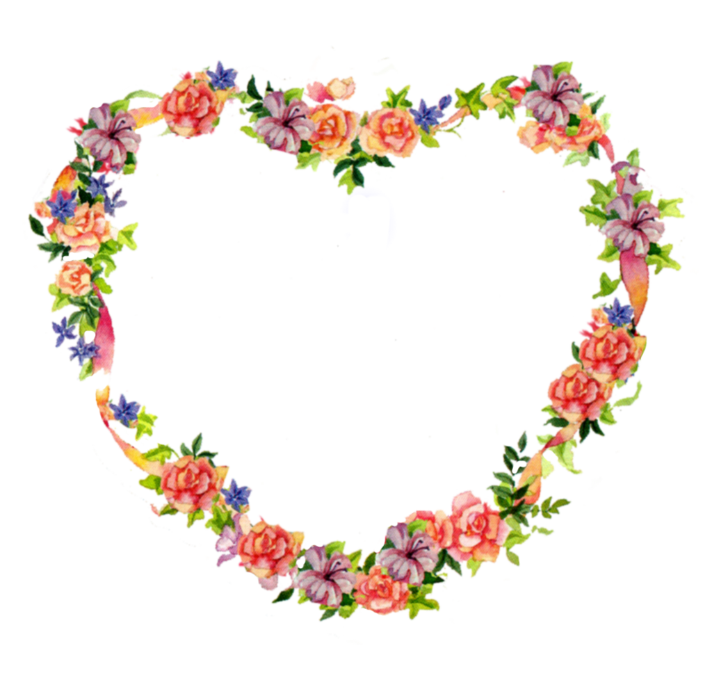 picture PlusPng.com  - PNG HD Hearts And Flowers