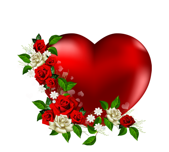 Pictures Of Flowers And Love Hearts - PNG HD Hearts And Flowers