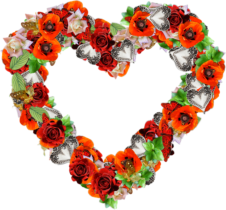 pictures of flowers and love hearts free illustration heart flowers png  love free image on photos - PNG HD Hearts And Flowers