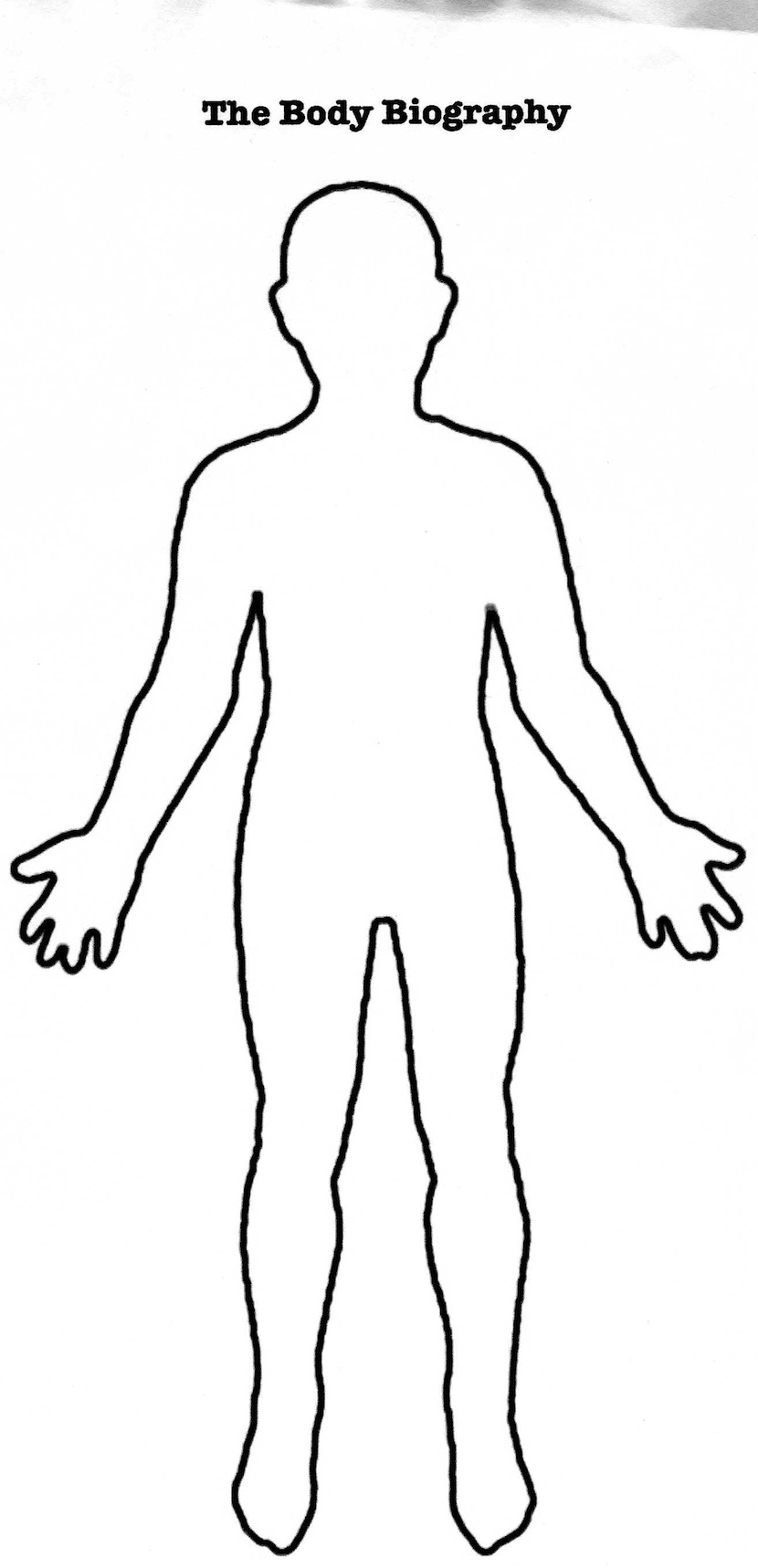 . PlusPng.com body outline png. Human brain Wikipedia - PNG HD Human Body Outline