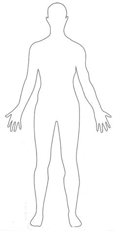 outline picture parts of the human body. Great for students to draw their  interpretation of literary characters. - PNG HD Human Body Outline