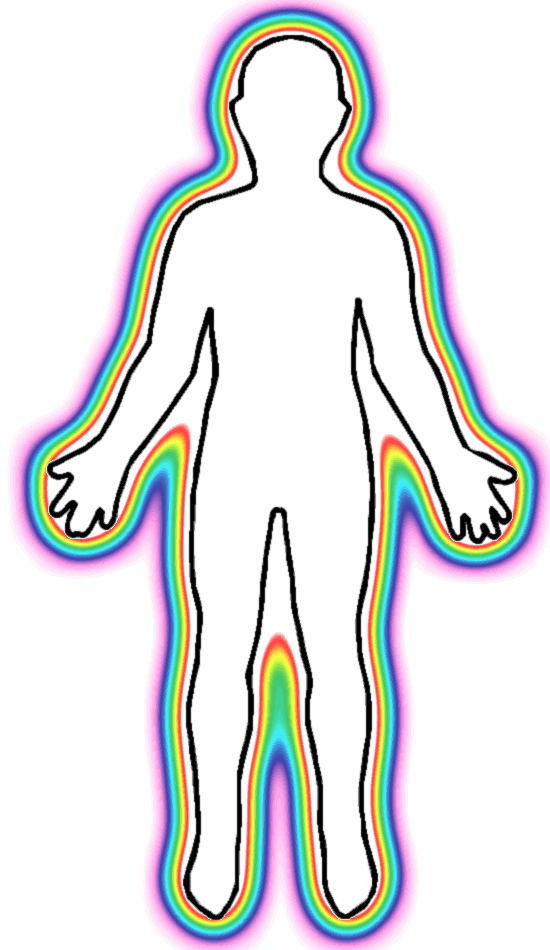 PlusPng pluspng.com Outline of human male body with glowing aura. 23:46 . - PNG HD Human Body Outline