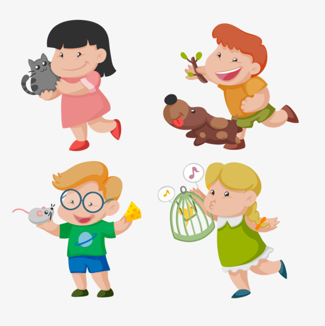 Vector children playing, HD, Vector, Kitten Free PNG and Vector - PNG HD Images Of Children