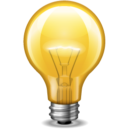 Download PNG | 256px PlusPng.com  - PNG HD Light Bulb