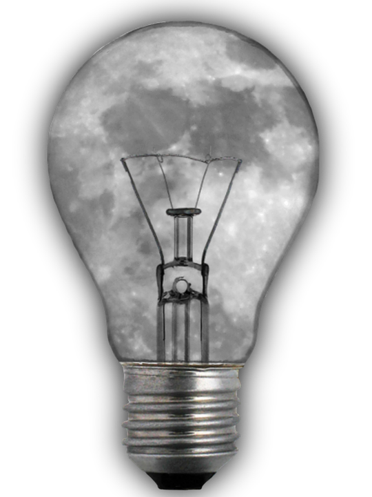 Light Bulb, Moon, Image Editing, Isolated - PNG HD Light Bulb