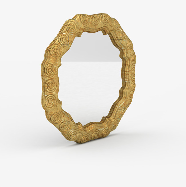 Gold frame mirror HD Photo, Gold Frame Mirror Material, Bedroom Mirror,  Mirror Free PNG Image - PNG HD Mirror