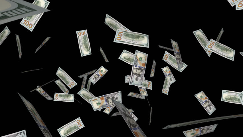 . PlusPng.com Exploding Banknotes For Your Projects About Money As Intro, Opening,  Reveal, Transition, Background, VJ FX. PlusPng.com Full HD PNG With Transparent Back. - PNG HD Money