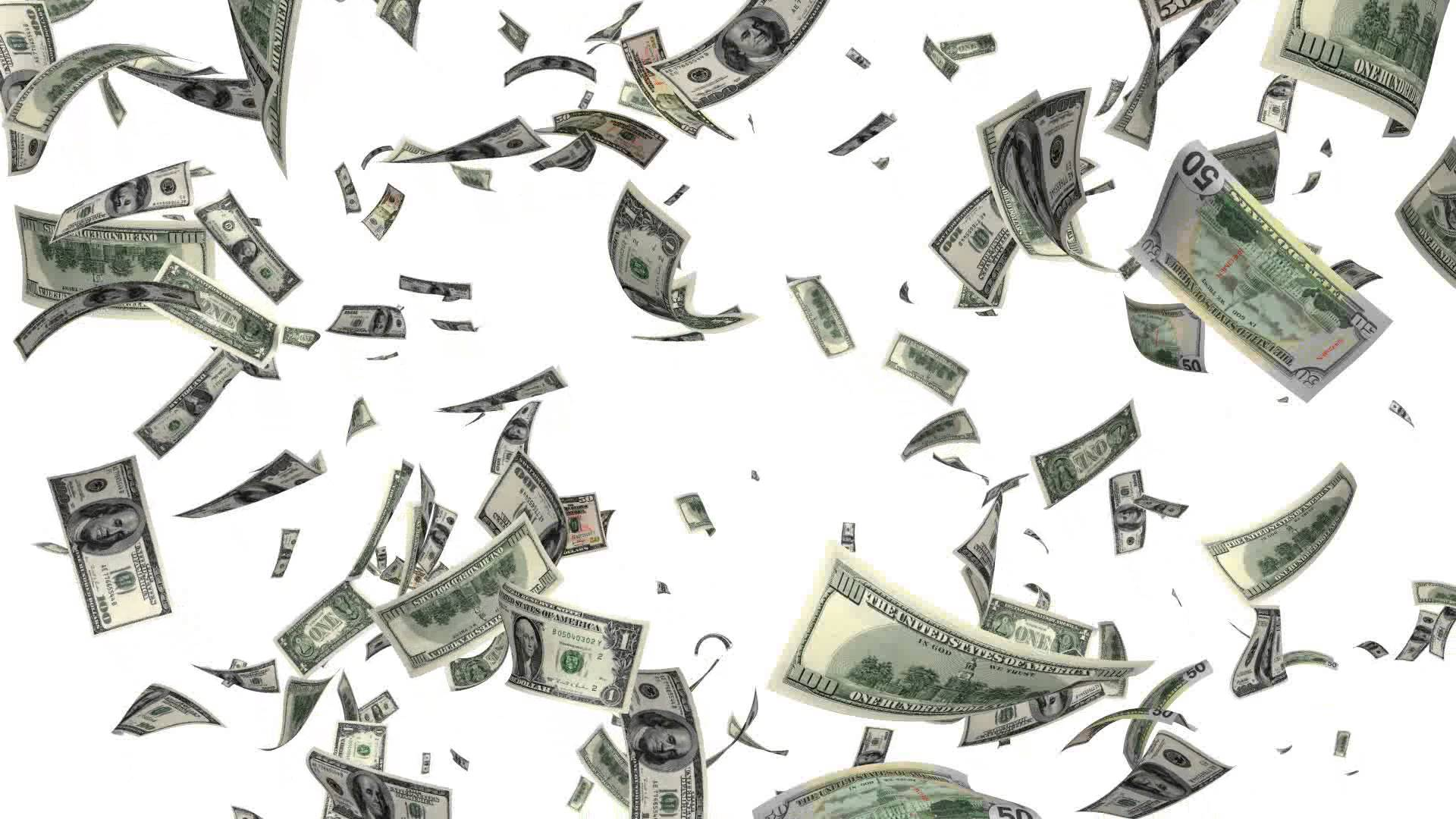 raining money - PNG HD Money