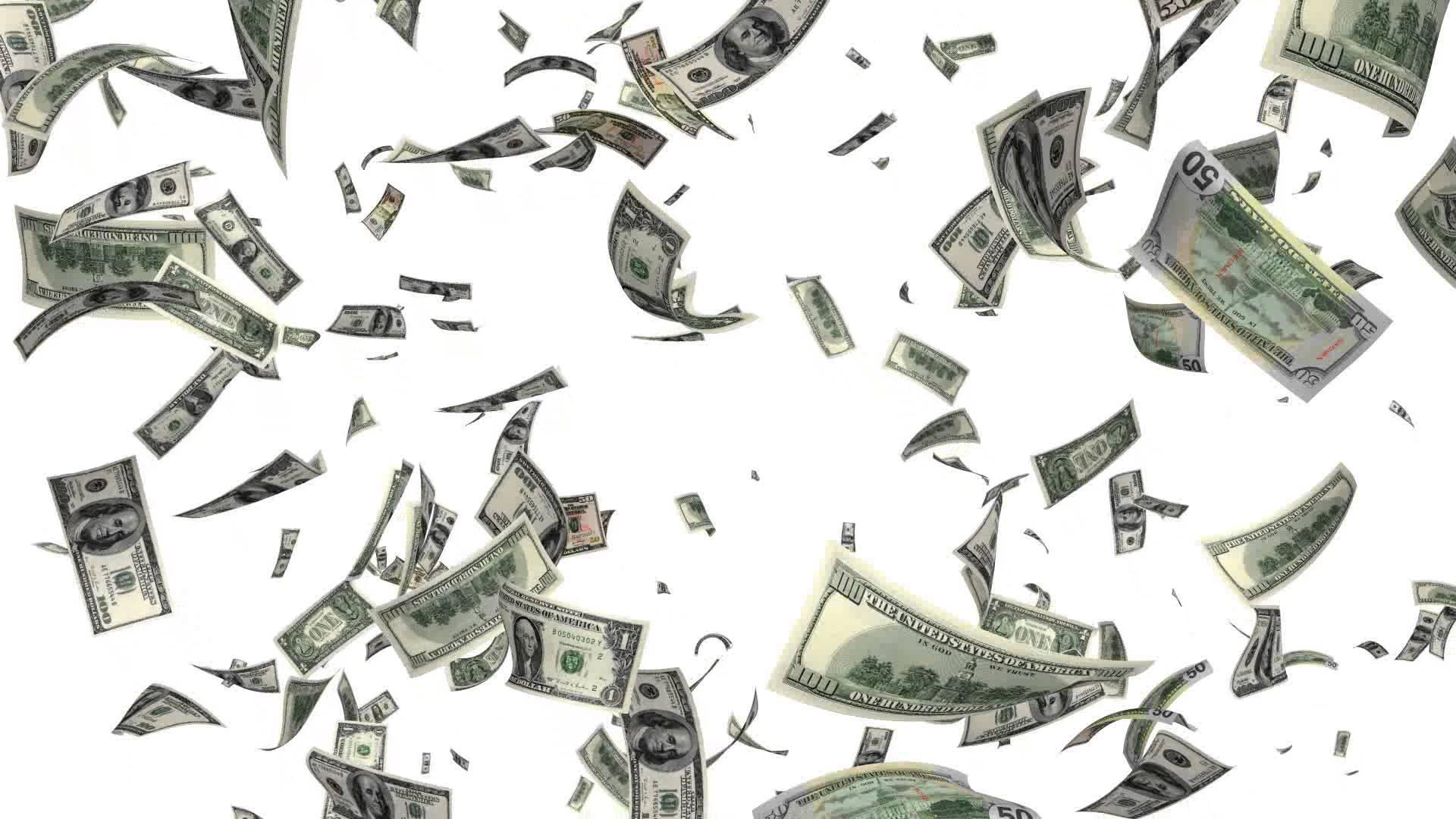 raining money - PNG HD Money
