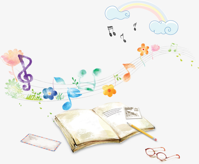 Music books, learning material to pull HD Free, Music, Note, Book PNG - PNG HD Music Notes