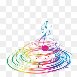Vector colorful music notes, Hd, Vector, Rotating Music PNG and Vector - PNG HD Music Notes