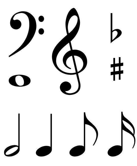 PNG HD Musical Notes Symbols - 131641
