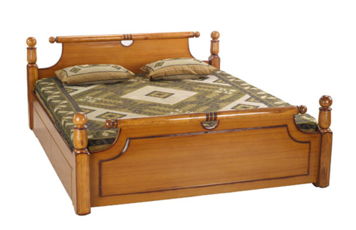 Wooden Bed - PNG HD Of A Bed