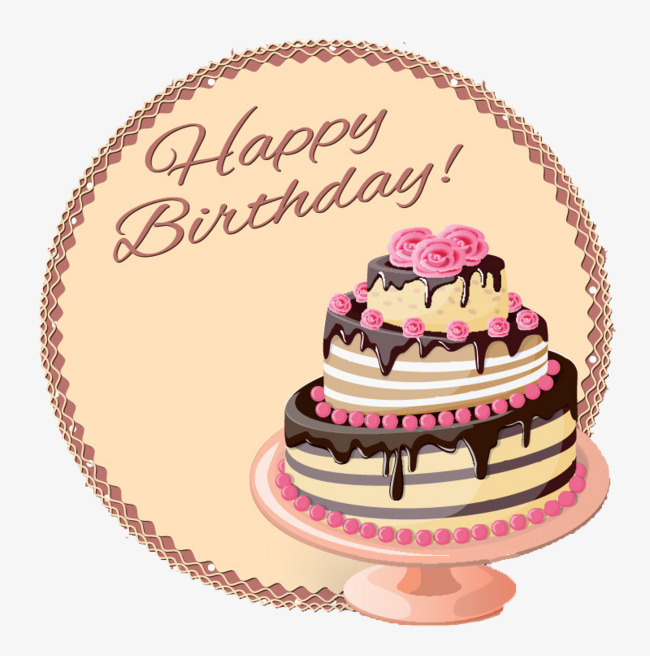 happy Birthday, Birthday Cake, Creative Birthday Party Free PNG Image - PNG HD Of A Birthday Cake