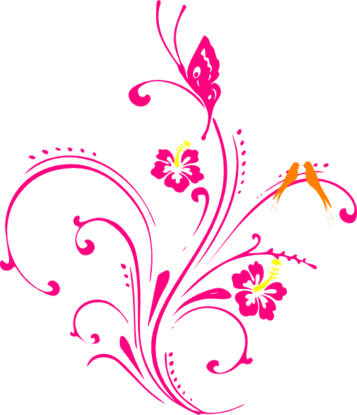 clipart flowers and butterflies png 2 - PNG HD Of Butterflies And Flowers