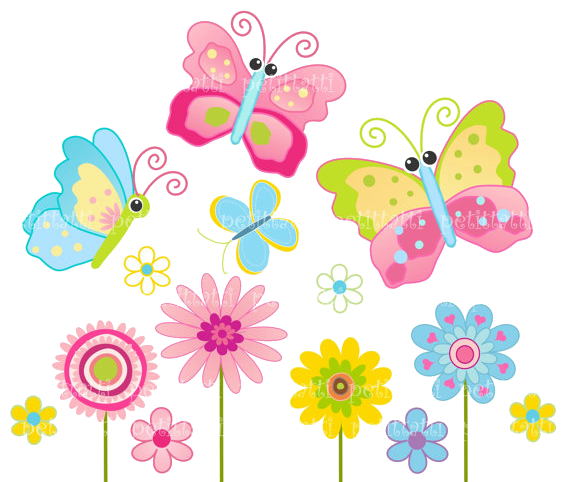PNG HD Of Butterflies And Flowers - 123658