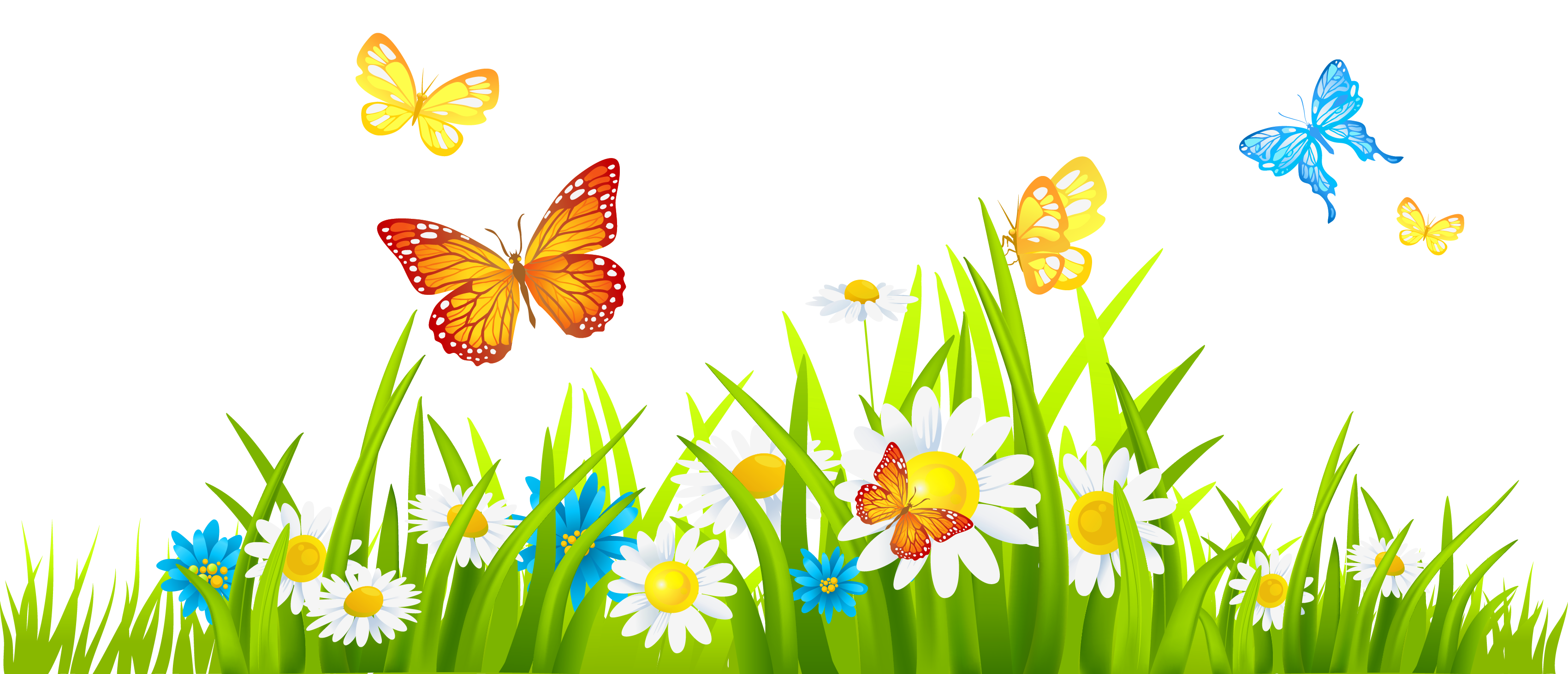 PNG HD Of Butterflies And Flowers