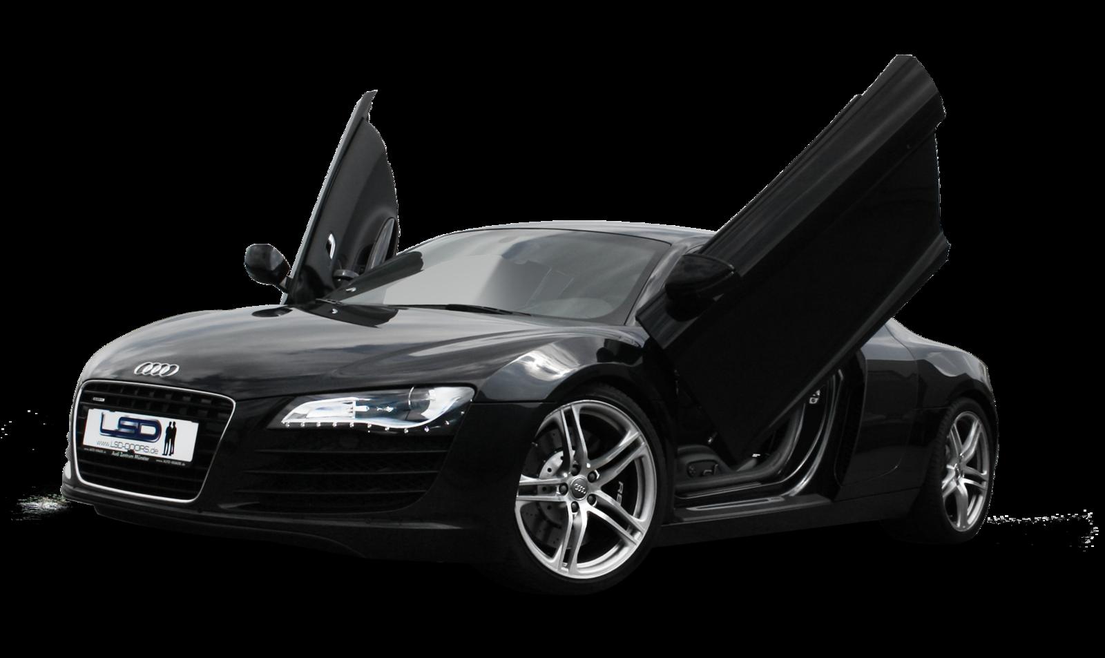 Audi R8 Black Matte PNG