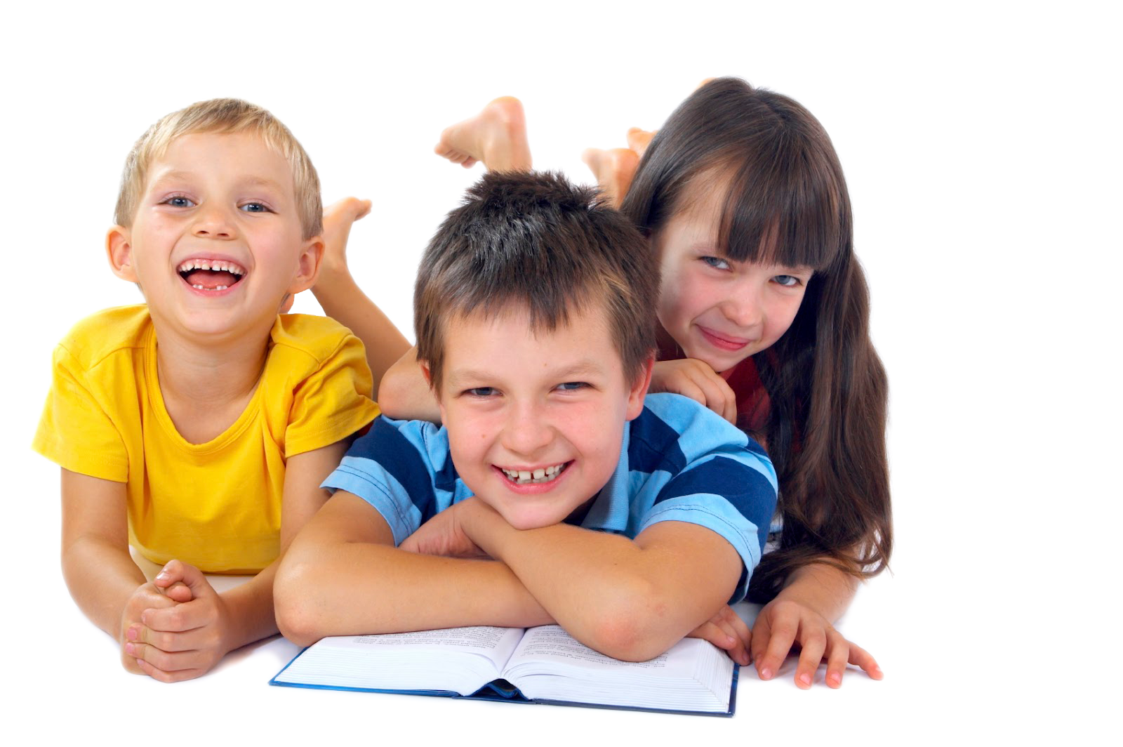 Happy-children-reading copy - PNG HD Of Kids Reading