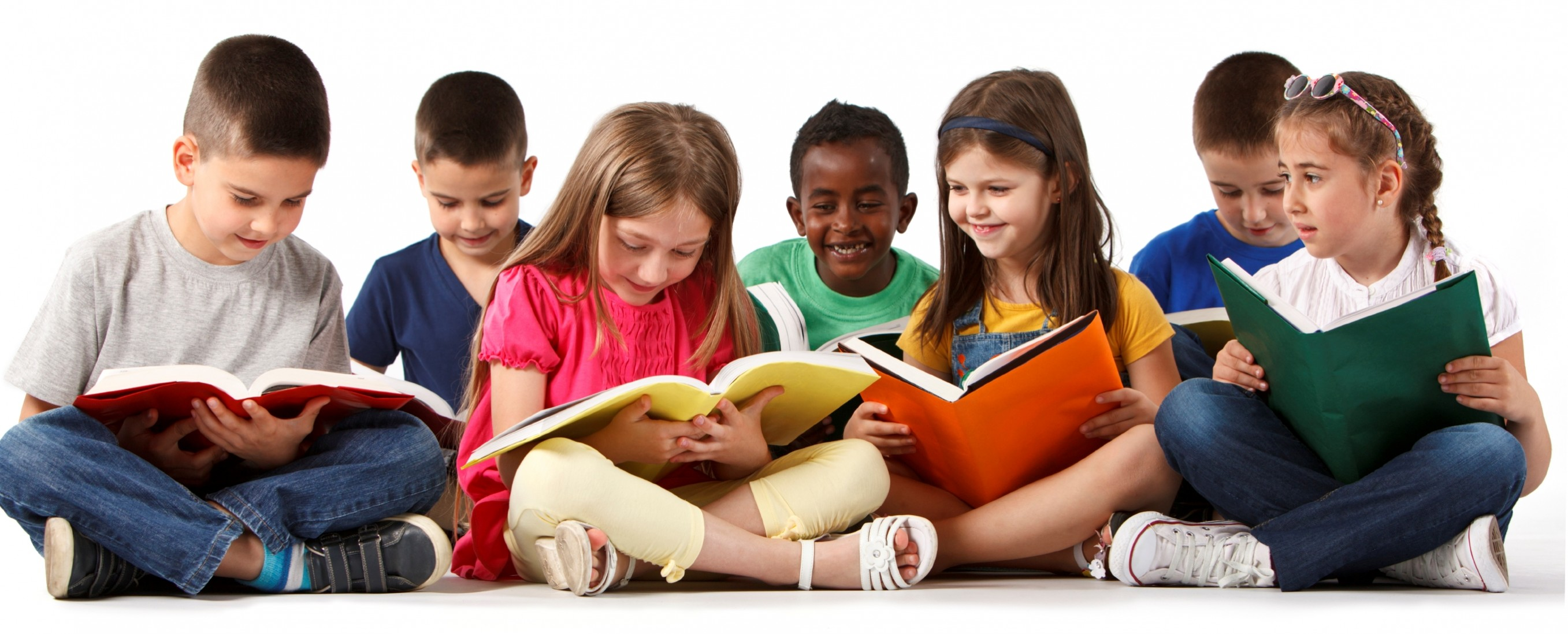 PNG HD Of Kids Reading - 131558