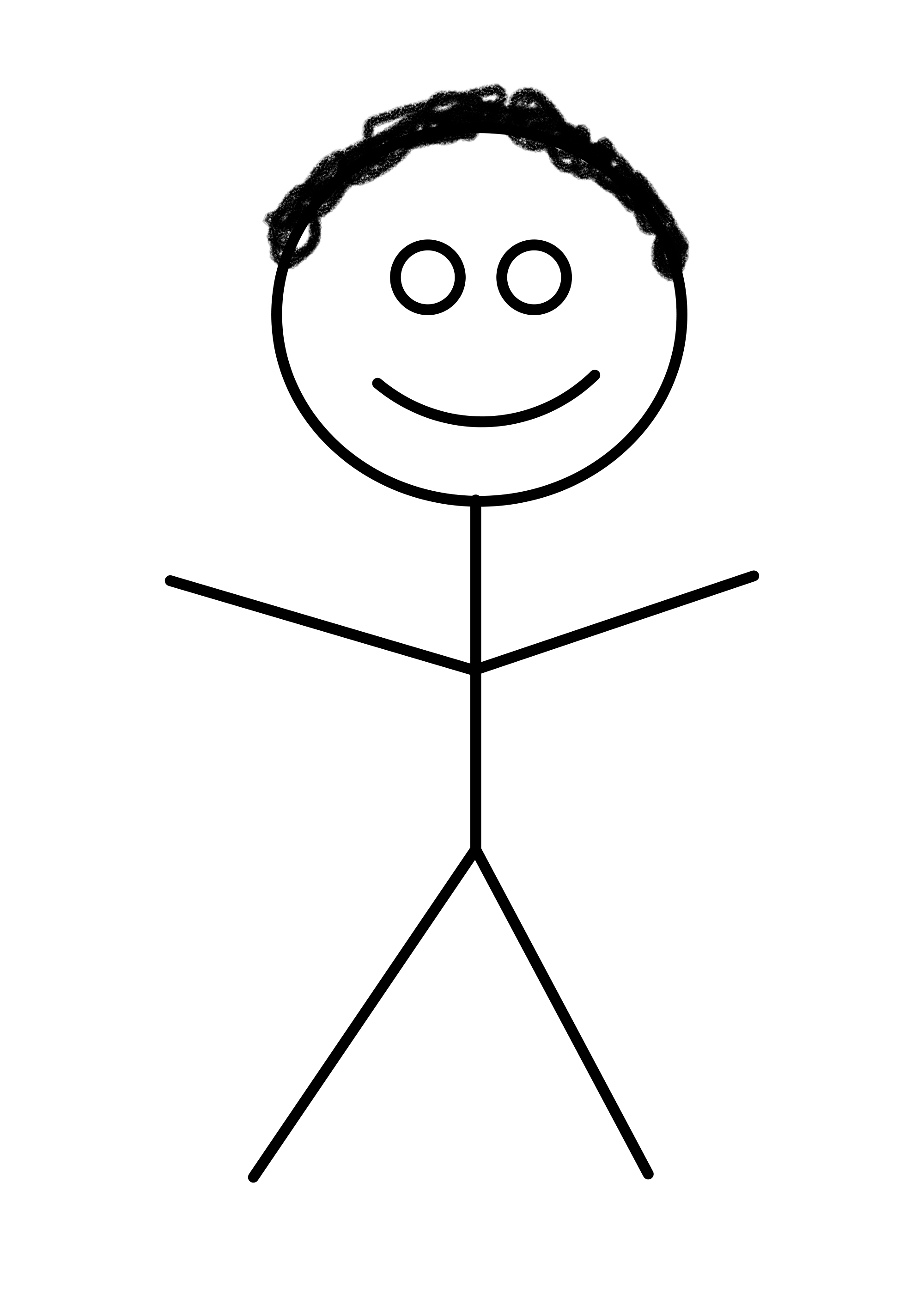 2000px-Stick Figure.svg.png - PNG HD Of Stick Figures