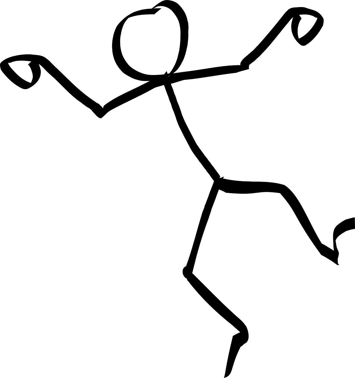 Dancing Stick Figure - PNG HD Of Stick Figures
