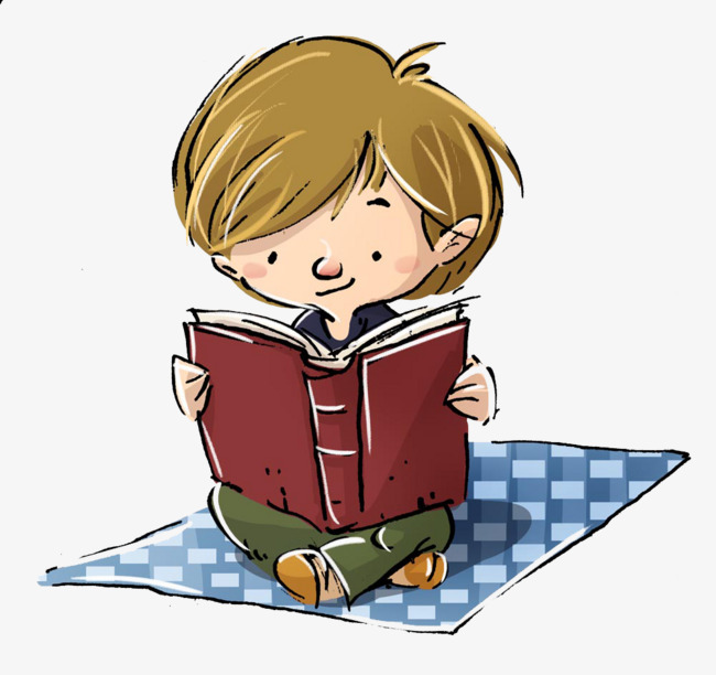 Little boy reading material b