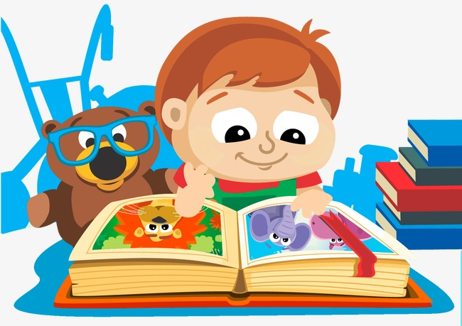 Vector boy reading, HD, Vector, Illustration Free PNG and Vector - PNG HD Of Students Reading