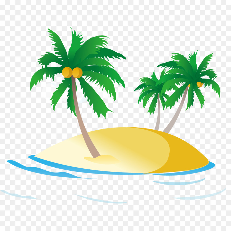 Sea Ocean Royalty-free Clip art - Beach coconut tree - PNG HD Palm Tree Beach