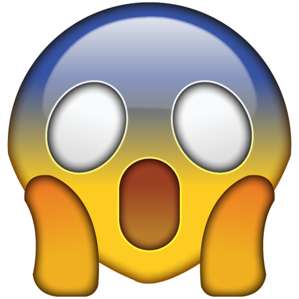 OMG Face Emoji PNG. Shocked and scared by something incredibly alarming?  This emoji captures - PNG HD Shocked Face