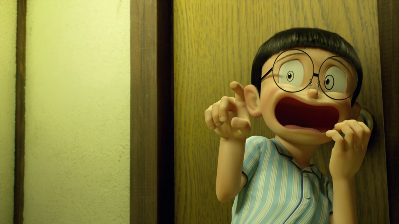 Stand by Me Doraemon Chapter 2 Nobita shocked.png - PNG HD Shocked Face