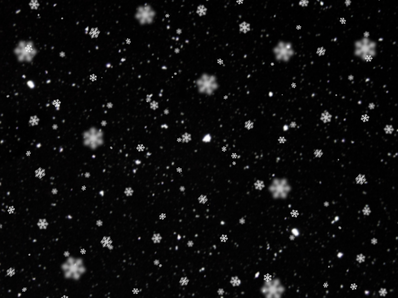 Snowing Texture With Big Snow