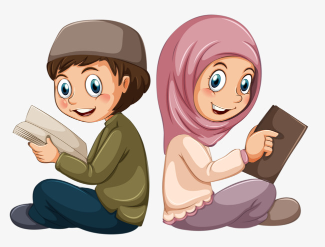 Muslim Students, Student, Child, Reading PNG Image - Cute Reading PNG HD - PNG HD Student Reading