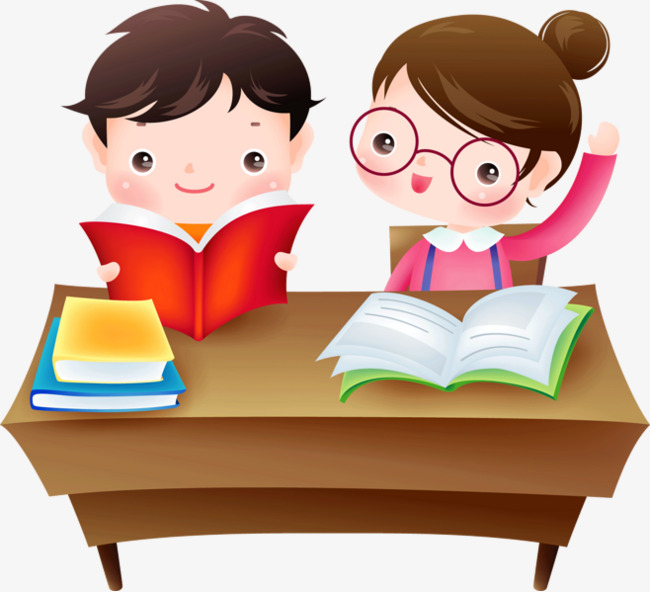 School children, Boy, Girl, Reading PNG Image and Clipart - PNG HD Student Reading