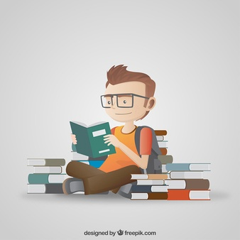 Student Reading Illustration - PNG HD Student Reading